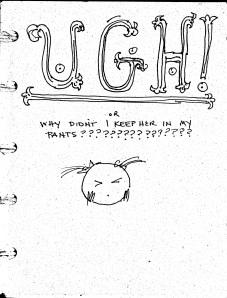 Ugh, sketchbook Cover
